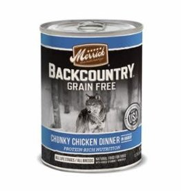 Merrick Merrick Backcountry Chunky Chicken Dog Can 12.7oz