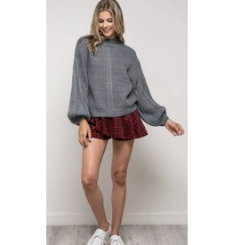 Mustard Seed Ruffle It Plaid Skort