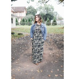 ODDI Can't Find Love Camo Dress / Curvy