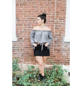 Just Black Little Fool Black Denim Skirt