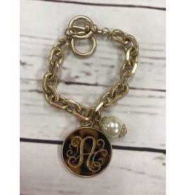 Monogram Chain Link Bracelet