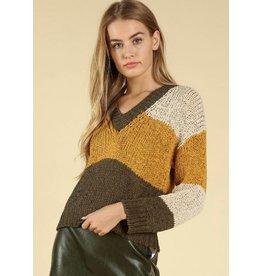 WILD HONEY Color Me Happy Sweater