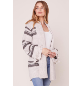 JACK Fringe Theory Striped Cardigan