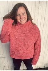 POL clothing Bubble Gum Turtleneck Sweater