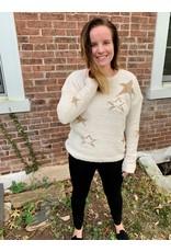 Hem & Thread Metallic Star Sweater