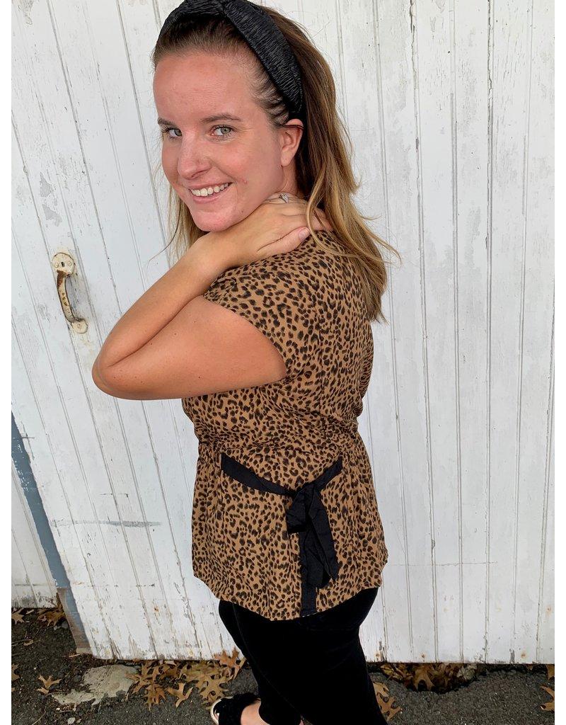 Hem & Thread Leopard Peplum Top