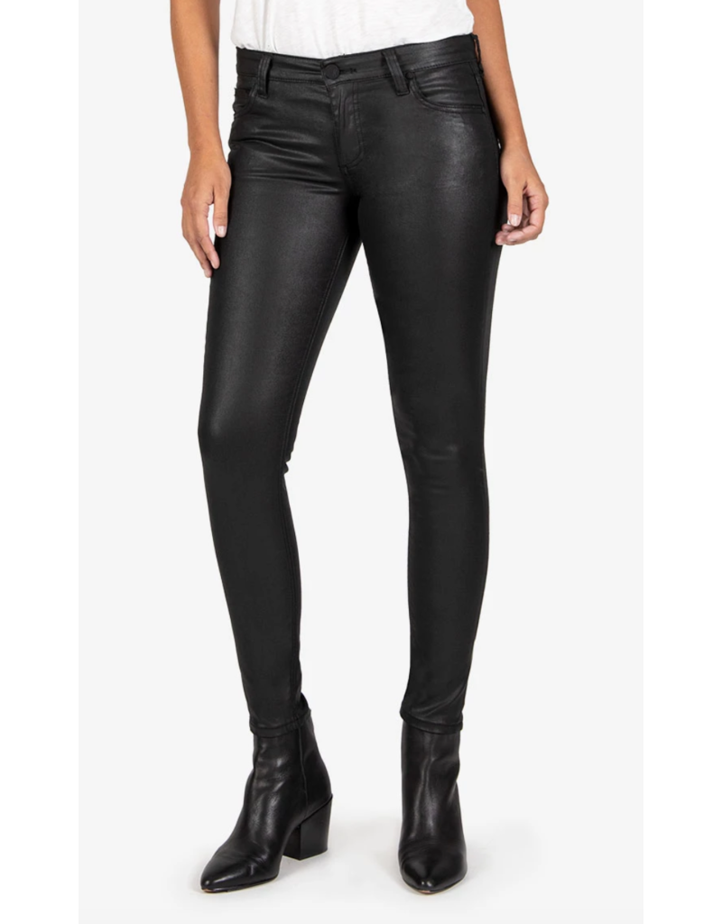 KUT Mia Slim Fit Vegan Leather Skinnies