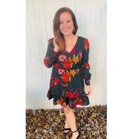 JACK Let it V Floral Long Sleeve Dress