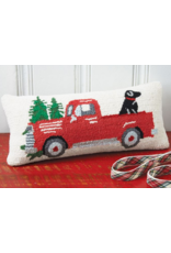 Mudpie Truck & Dog Holiday Pillow