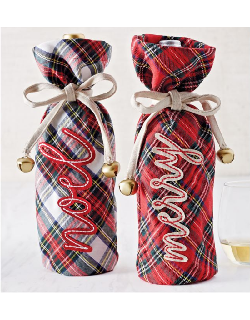 Mudpie Tartan Wine Bag