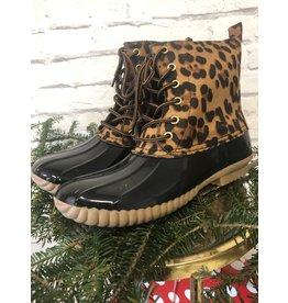 Yoki Leopard Duck Boot