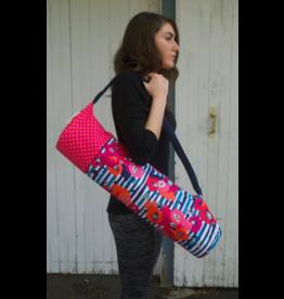 Flower and Polka Dot Yoga Bag