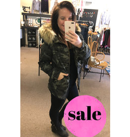 Style Melody Camo Hooded Jacket