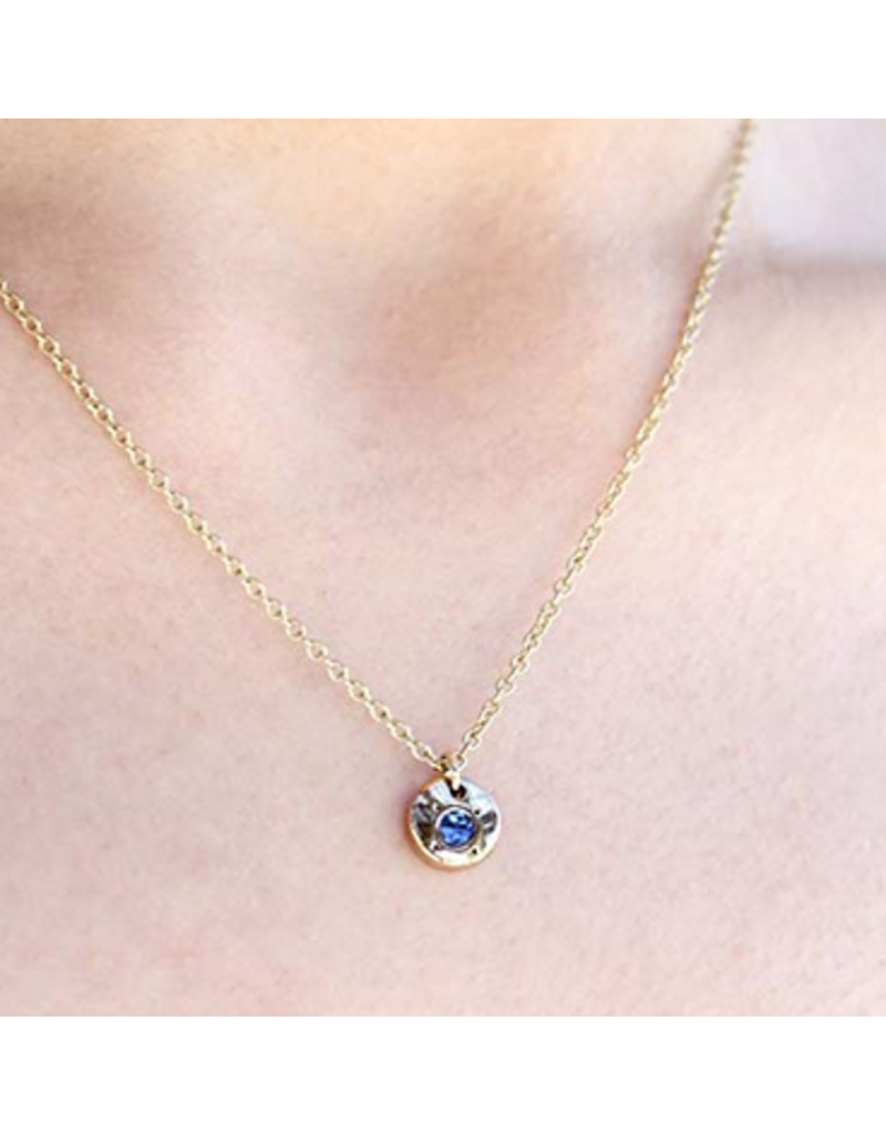 Lucky Feather Birthstone Necklace