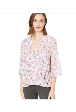 KUT KUT FROM THE KLOTH Ivana Floral Print Faux Wrap Blous
