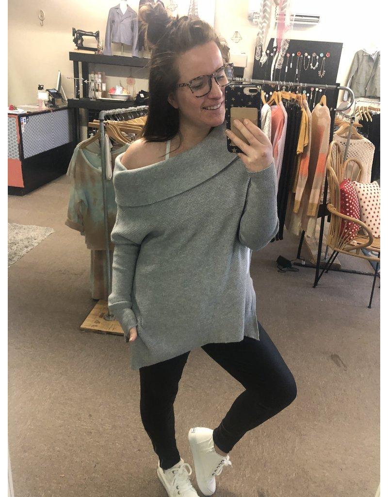Six Fifty Drape Neck Sweater