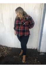 SKIES ARE BLUE Half Button Flannel