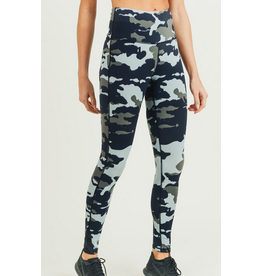 Mono B Jungle Camo Criss-Cross Strap Highwaist Leggings