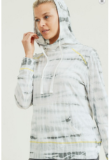 Mono B Mono B Tie-Dye Triangle Cutout Back Hoodie Sweatshirt
