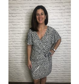 Caramela Leopard Wrap Dress
