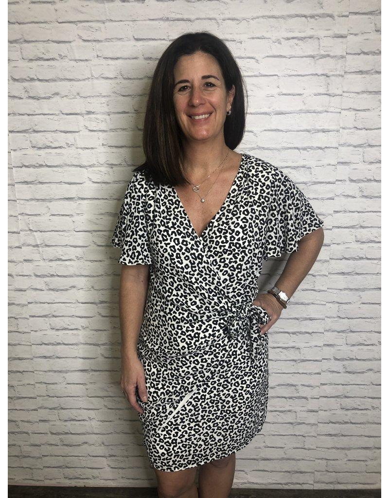 Caramela Leopard Wrap Dress