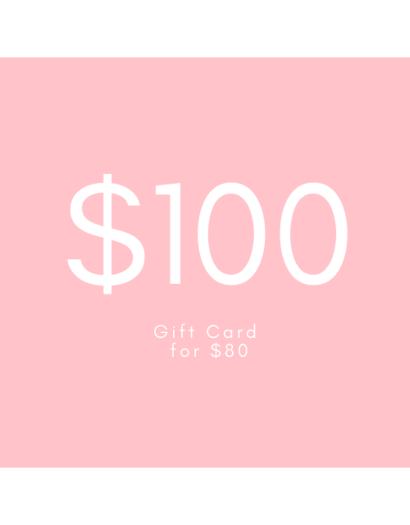 $100 Gift Card for $80