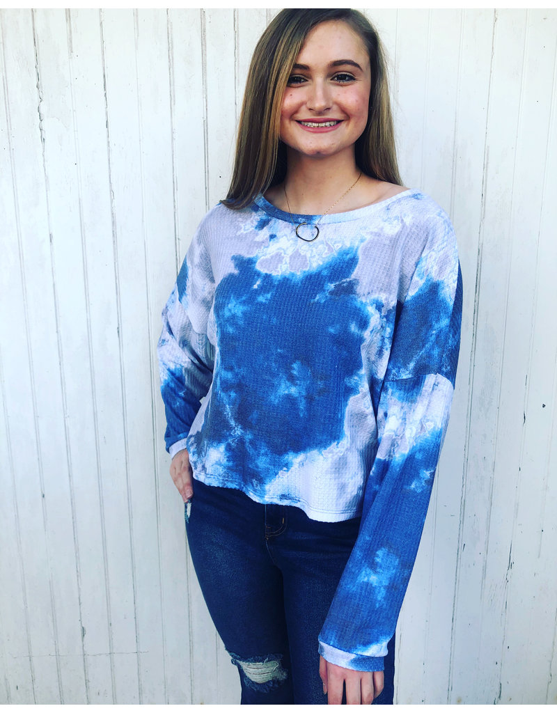 Six Fifty Clothing Tie Dye Waffle Top by Six Fifty