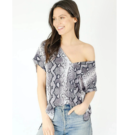 Six Fifty Clothing Mixed Media Side Tie Top