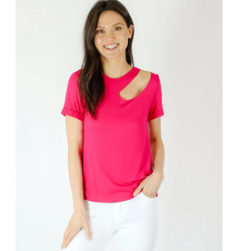 Six Fifty Clothing Jersey Knit Cut out Top