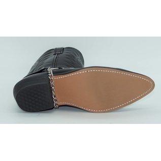 Laredo Men's Tallahassee Silver Toe Plate Black 6770