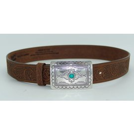 Tony Lama Women's Navajo Spirit Embossed Leather Belt  C50189
