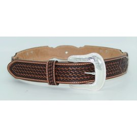 Tony Lama® Men's Brown Tooled Stillwater Creek Leather Belt C42464