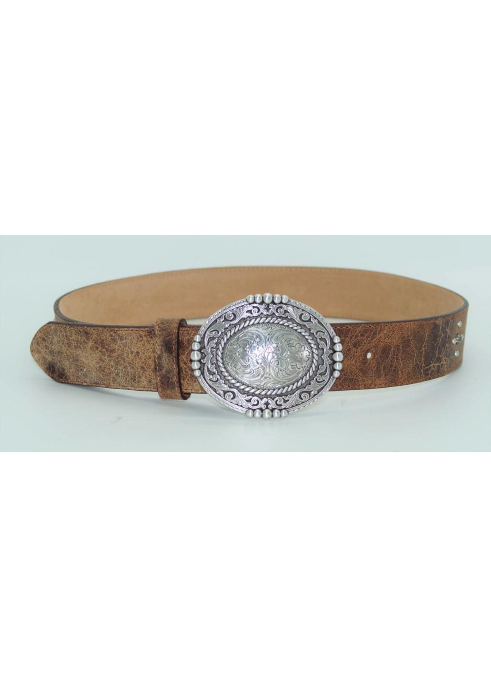 Justin Pueblo Plaque Leather Belt C21434