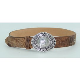 Justin Pueblo Plaque Leather Belt C21434
