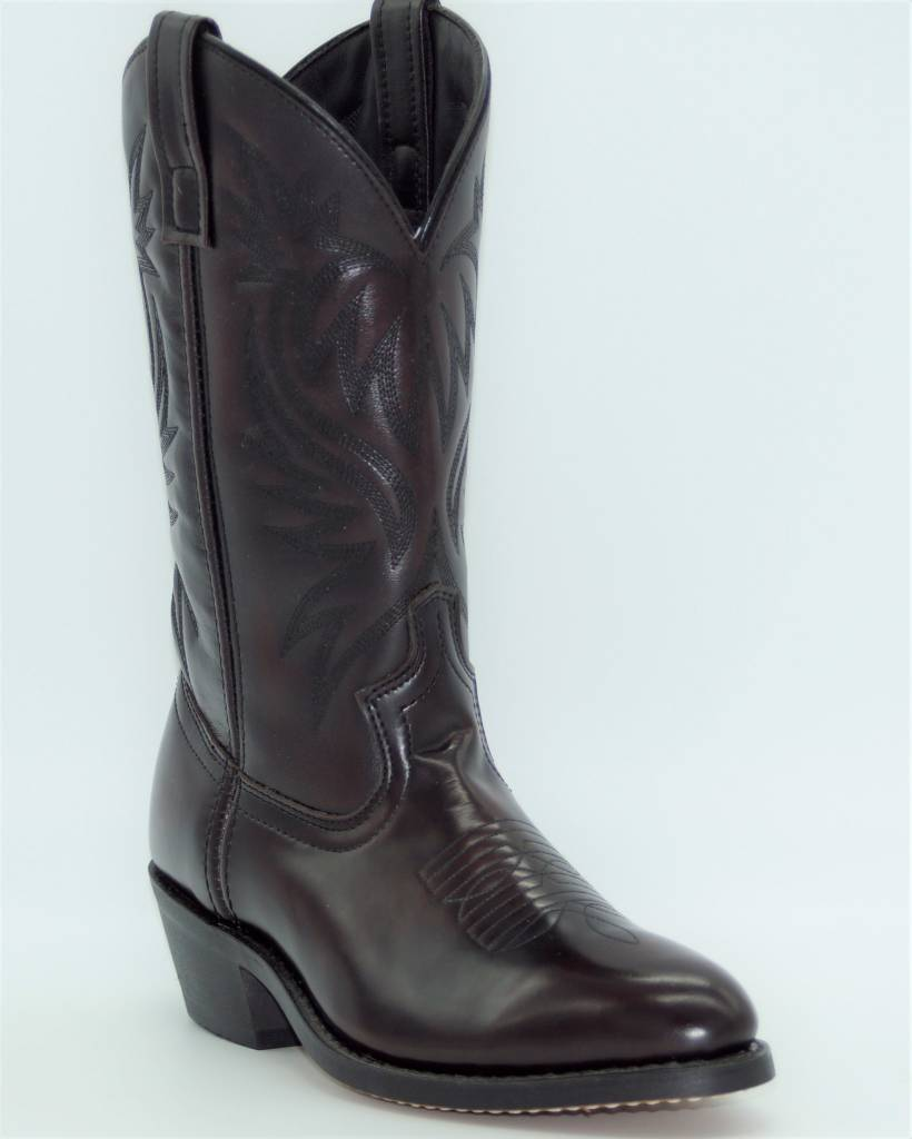 f1a7bd60fe9099 Grinders Boots Leather Cowboy. Laredo Men S London Black Cherry Leather  Foot Western Boot 4216