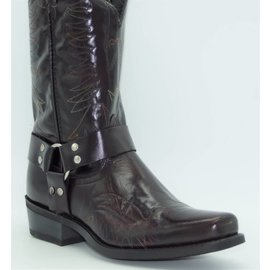 Laredo Men's Burgundy Harness Boot 5083