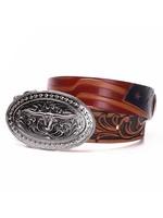 Tony Lama Tony Lama Kids USA Made Americana Leather Belt C60204