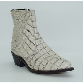 Laredo Men's White Simulated Alligator Short Zipper Boot 6769