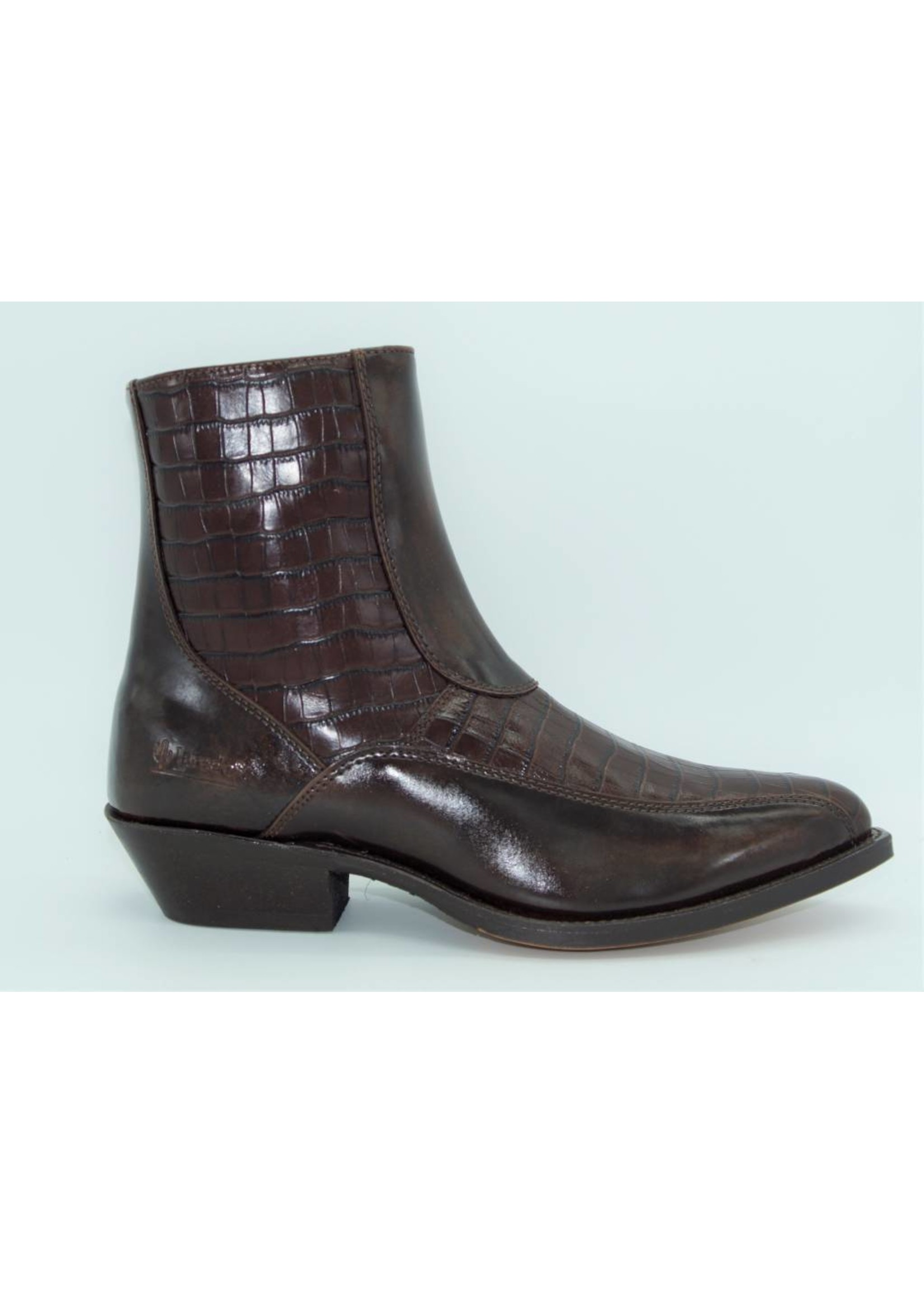 Laredo Dark Brown Simulated Alligator 7672
