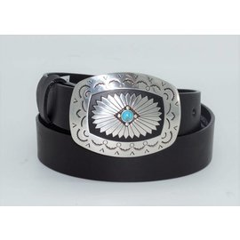 "Tony Lama Ladies 1 1/4"" Black Santa Rosa Belt C51283"