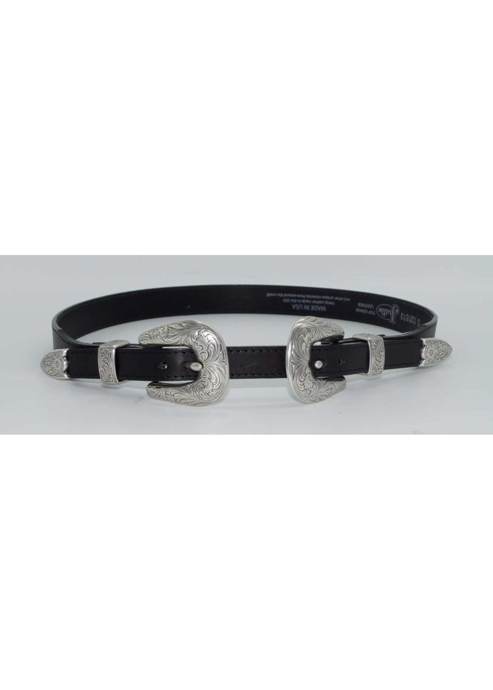 Justin Justin Women's Annie Oakley Double Buckle Black Fashion Belt C21513