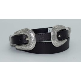 Justin Women's Annie Oakley Double Buckle Black Fashion Belt C21513
