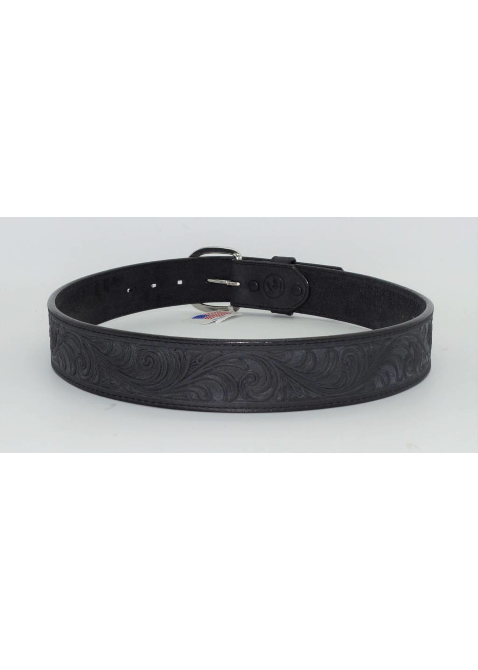 Justin Silver Creek Black Western Belt 53903