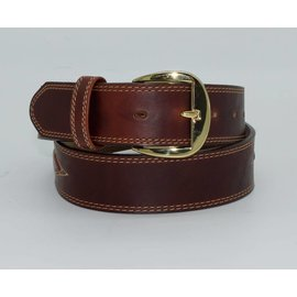 Justin Silver Creek Men's Padded Leather Brown Belt - 55607