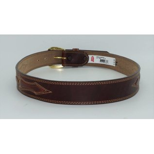 Justin Silver Creek Men's Padded Leather Brown Belt - 55607