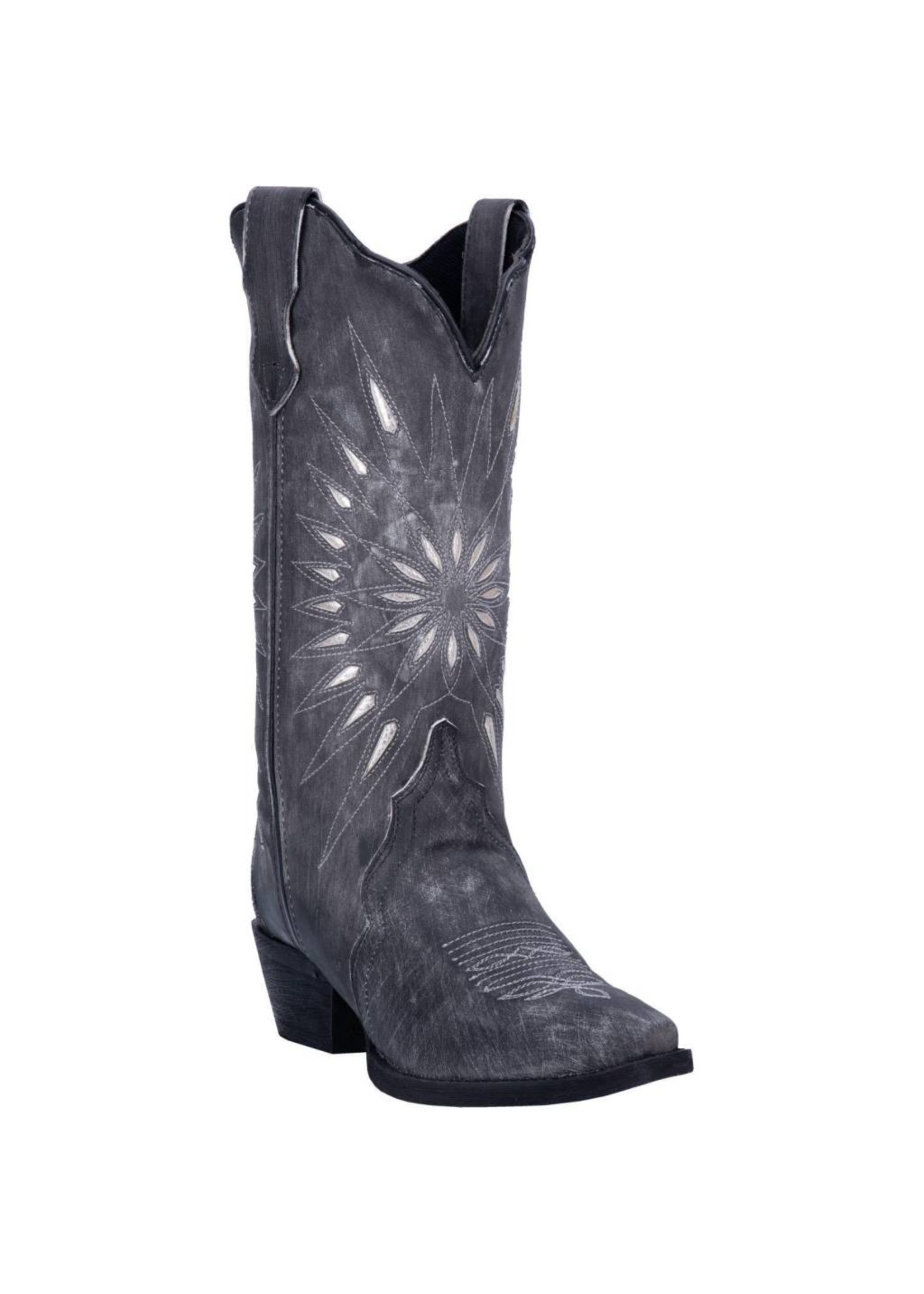 "Laredo Women's Laredo 12"" STARBURST Black Leather 52160"