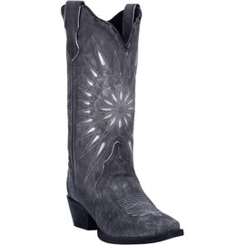"Laredo Women's Laredo 12"" STARBURST Black Leather 52160"