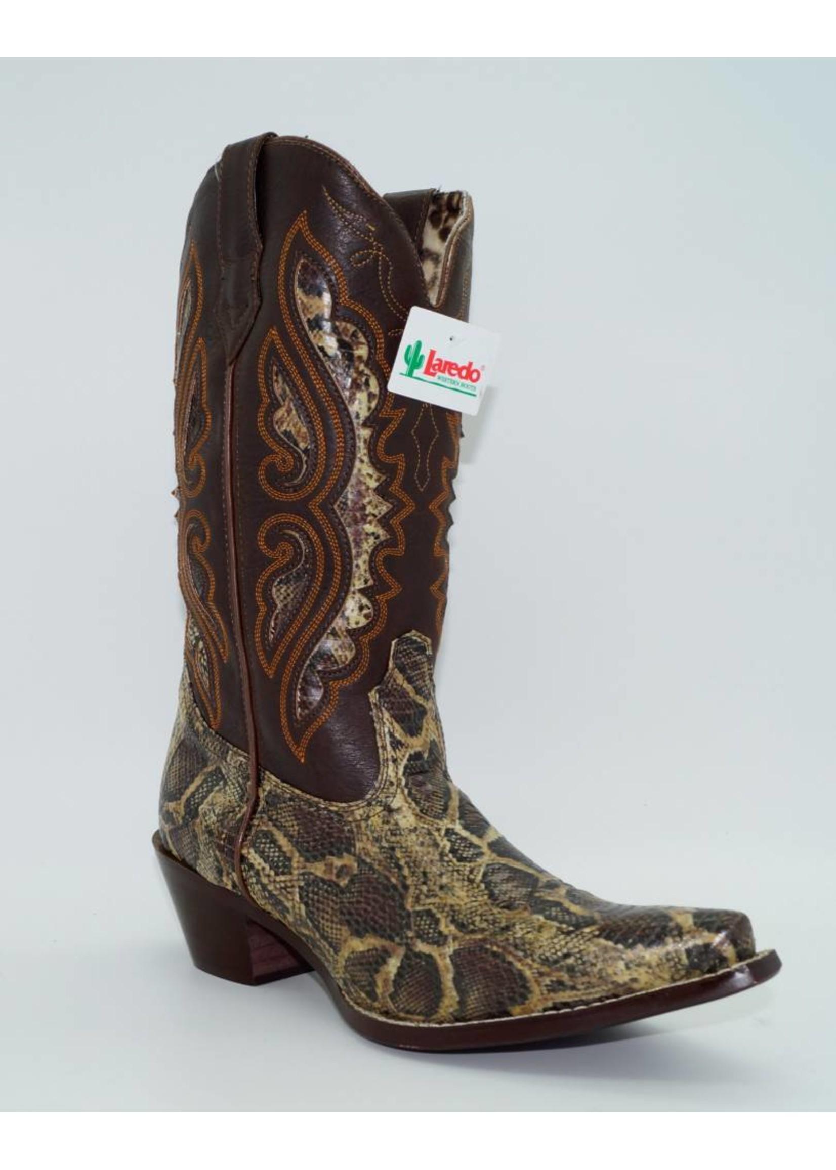 Laredo Women's Genuine Python Snake Skin Boots 5766