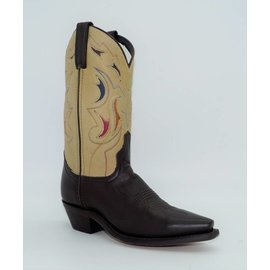 Laredo Women's Brown Inlay Leather Western Boots 4566
