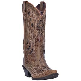Laredo Women's Crosswing 12 Inch Snip Toe Embroidered Cowboy Boot 52157
